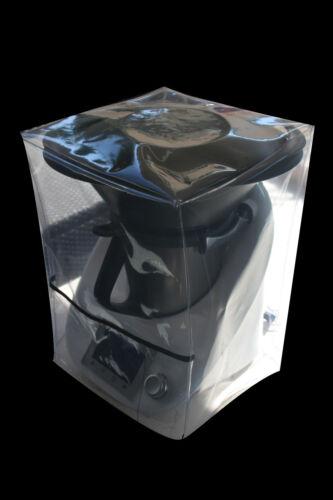 HOUSSE DE PROTECTION THERMOMIX TM5//TM31 Avec Varoma Transparente Biais Noir