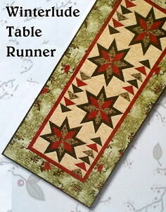 Extra RUNNER table long WINTERLUDE extra   runner TABLE Use QUILT Runner as KIT Bed Moda Long