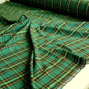 Das Bild wird geladen gruen-gelb-rot-Schotten-Karo-Stoffe-Kleiderstoff- Dekostoff- 712bdd9384