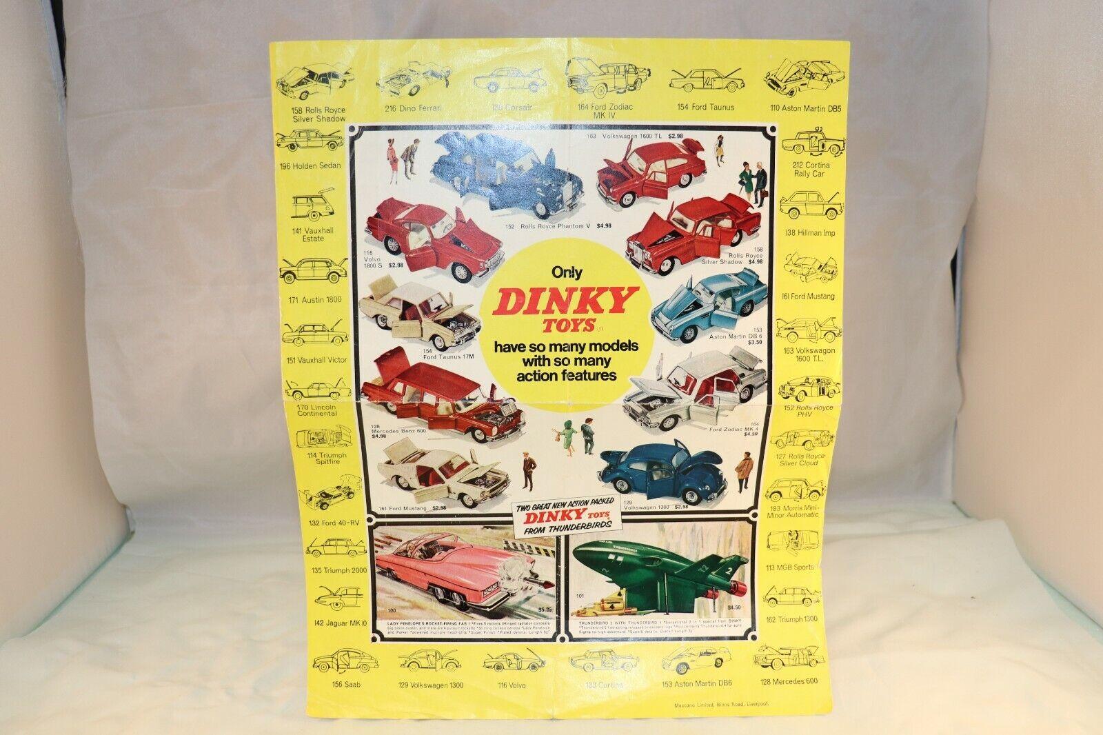 Dinky giocattoli 725773 Poster Dimensione 33 x 26 cm tutti original in excellent condition