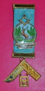Masonic Past Master's Jewel Breckland Lodge No 8707 sterling silver hallmark