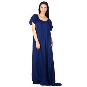 235c93e700d Night Dress Flared Royal Blue Designer Shift for Women / Girls S-5XL ...