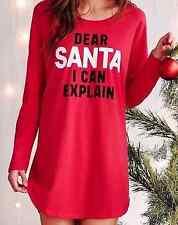 Victorias Secret Sleepshirt SANTA I CAN EXPLAIN Night Gown Pajamas NWT LARGE