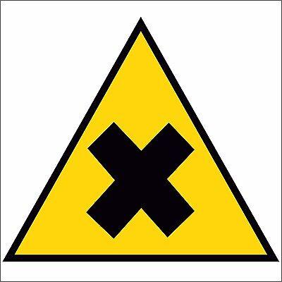 ADESIVO segnaletica attenzione sostanze velenose 330X125 mm.