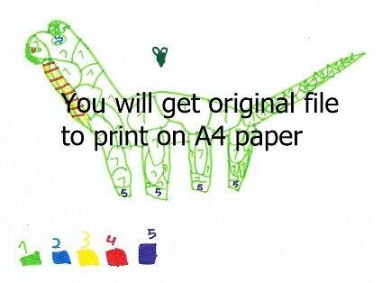 Printable coloring dinosaur for kids
