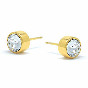 Small-Stud-Earrings-with-White-Clear-Round-Crystals-from-Swarovski-Gold-Plated