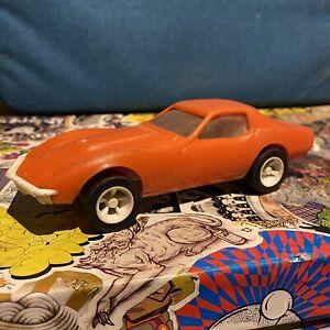 VINTAGE-RARE-1970s-Arancione-TONKA-TOYS-Corvette-Sting-Ray-da-Transporter-Set