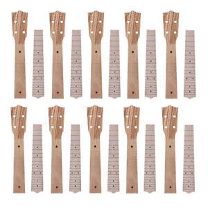 Neck-and-Fretboard-for-Ukulele-Concert-Uke-23-Inch-Hawaii-Guitar-Parts-Set-of-10
