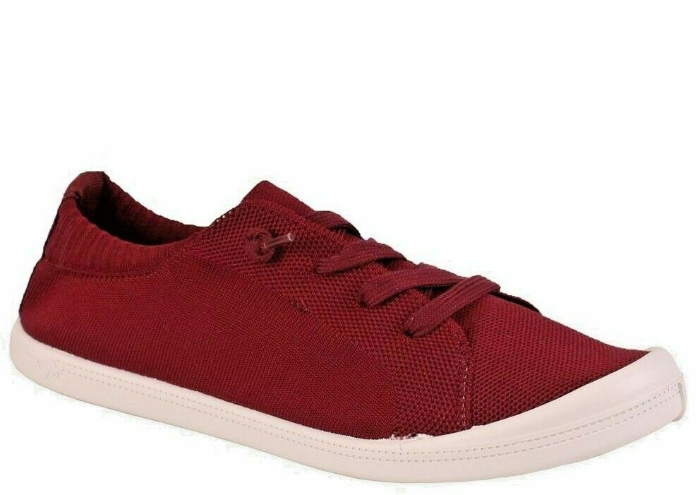Jellypop DALLAS Canvas Lace Up Casual Sneaker shoes - BURGUNDY - SIZE US 9M