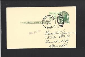 DOUGLAS-ARIZONA-1953-GOVERNMENT-POSTAL-CARD-REVALUED-TO-BOULDER-CITY-NEVADA