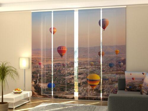 Fotogardine Heißluftballons Schiebevorhang Schiebegardinen Maßanfertigung