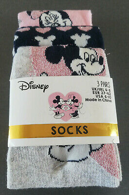 3 Paar Disney Minnie Mouse Damen Sneaker Socken Füßlinge Maus Bunt 37-42 Primark