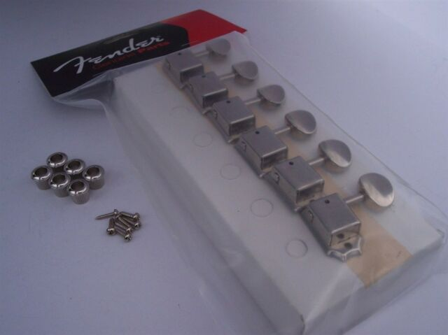 GENUINE FENDER VINTAGE 50's & 60's Import Tele Strat Nickel Tuners Tuning Keys