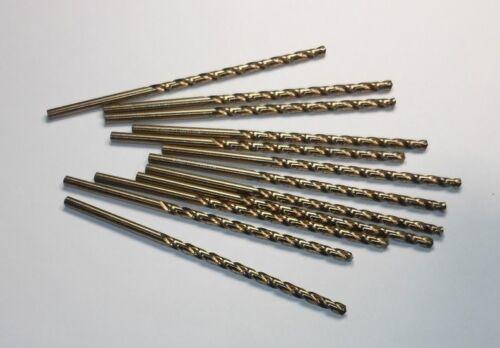 12 Pcs Cobalt Taper Length Drills 4.2mm 135° Gold 119mm OAL 45082