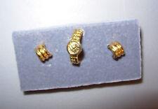 "Franklin Mint Princess Diana ""Gold"" Watch & Earrings ONLY Fits: Integrity/Gene"