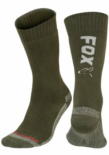 Silver Thermolite Long Sock Grösse 40-43 Size 6-9 Socken CFW118 Fox Green