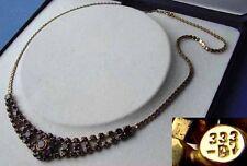 Antikes Granat Collier aus 333 Gold, bömische Granaten, Schatulle D630