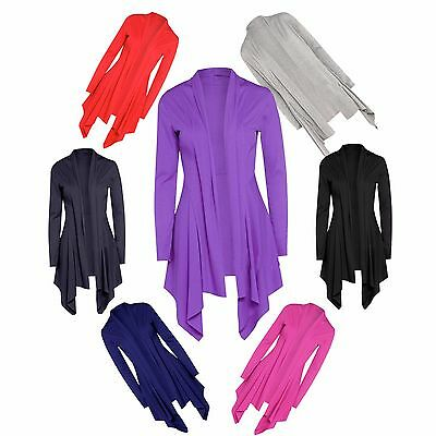 JUSTYOUROUTFIT New Womens Ribbed Waterfall Cardigans C2129 Size 8-12