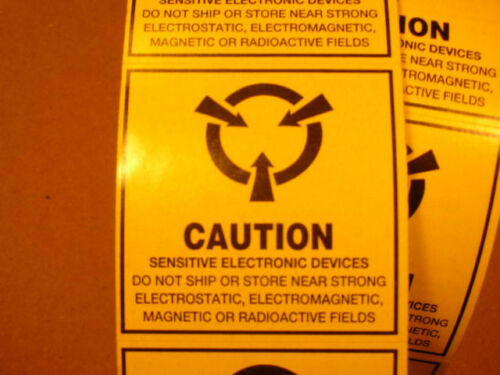 """3M//SCS CLABEL2x2 Static Warning Label 2 x 2/"""" CAUTION Sensitive Electronic Device"""