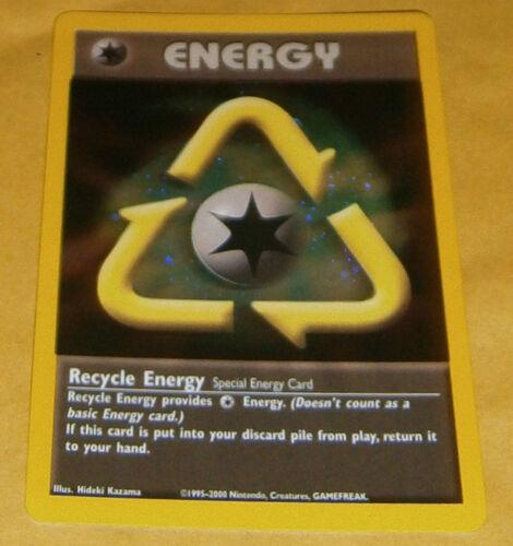 2002 POKEMON PROMO CARD RECYCLE ENERGY HOLOFOIL