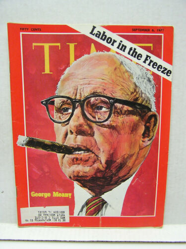 Sept 6, 1971 TIME Magazine George Meany Labor VG