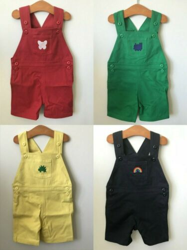 BNWT Designer Short Dungarees by Cololo 6 months to 3 years 4 colours 5 designs