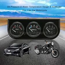 52mm Oil Pressure Water Temperature Gauge Voltmeter Car Motorcycle Meter N2W9