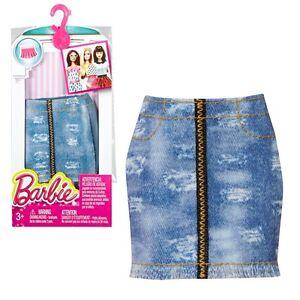 Falda-de-Mezclilla-Barbie-Mattel-DMB39-Moda-Ropa-de-la-Muneca