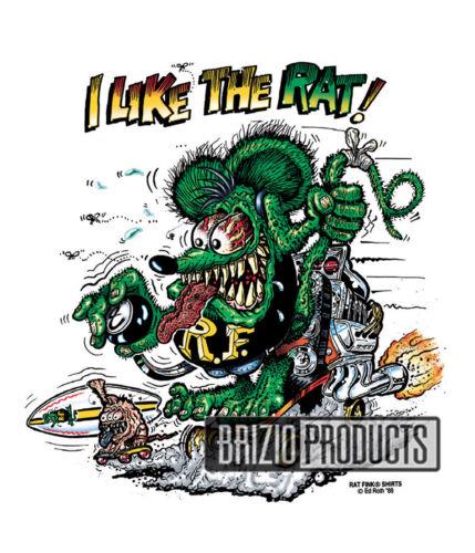 "Rat Fink /""I Like The Rat/"" White Tee Shirts 8775 Front Print"