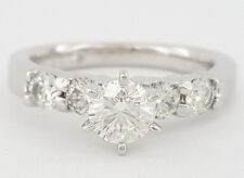 0.95 ct The Leo 14K White Gold & Platinum Round Cut Diamond Engagement Ring IGI