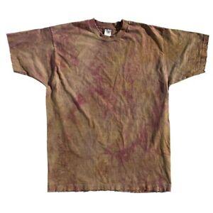 Vintage-90s-Thrashed-Distressed-Faded-Blank-Single-Stitch-FOTL-T-Shirt-XL