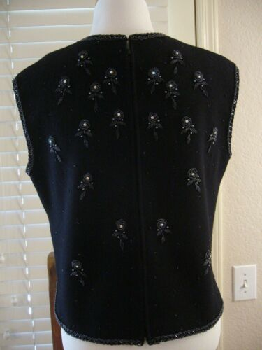 con maglia lavorato maniche con nero Visualizza motivo Maglione a Descr Palio senza maniche motivo Senza floreale FPxEOaqn