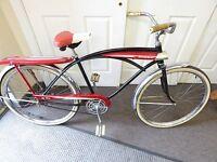 "Murray Jet Fire Fenders Bicycle 26"" Bike 1960s Black & Red Original Bike + Tires"