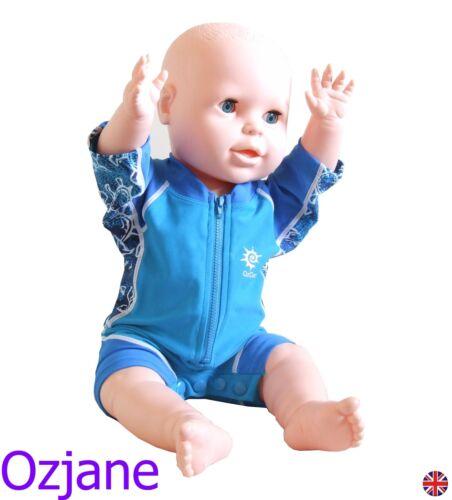SUN PROTECTION SWIM SUIT 3 TO 24 MONTHS BLUE POPPERS OZCOZ BABY BOYS UV UPV 50