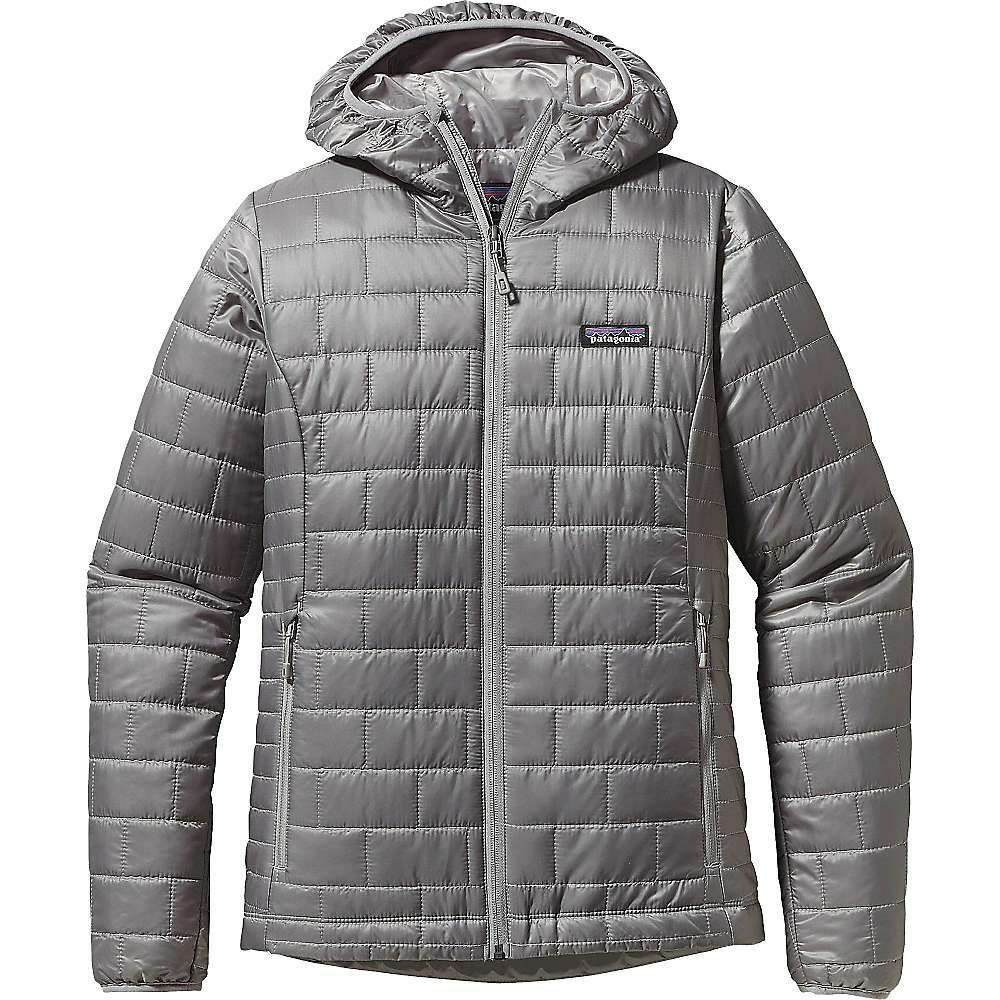 Patagonia Women's Nano Puff Hoody Grey Large w Defects