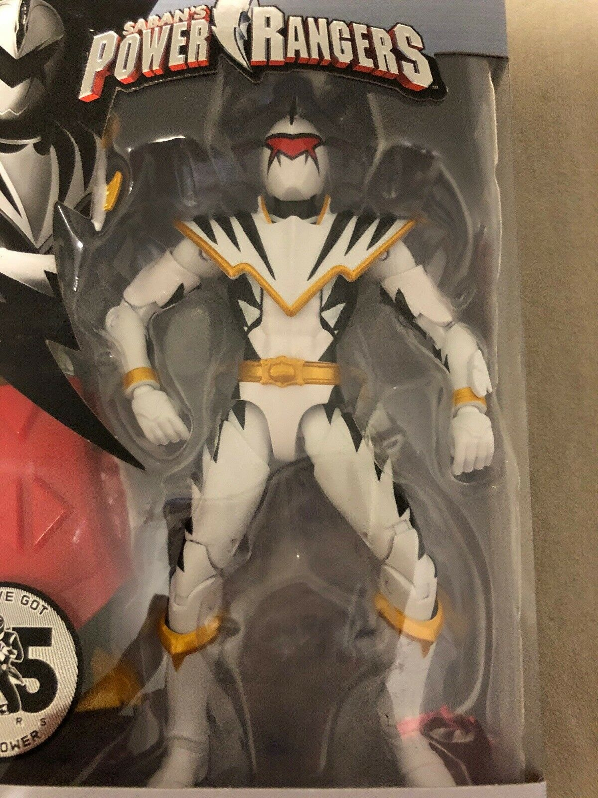 Power Rangers Legacy White Dino