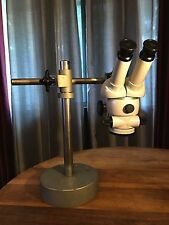Zeiss Stereo Microscope w/ Mount, Stand, and Base, Zeiss 10x Eyepieces (pair)