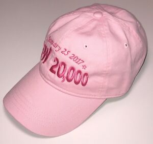 1fa71940b0c DOW 20000 HAT Pink Stock Market Special Edition FREE US SHIPPING