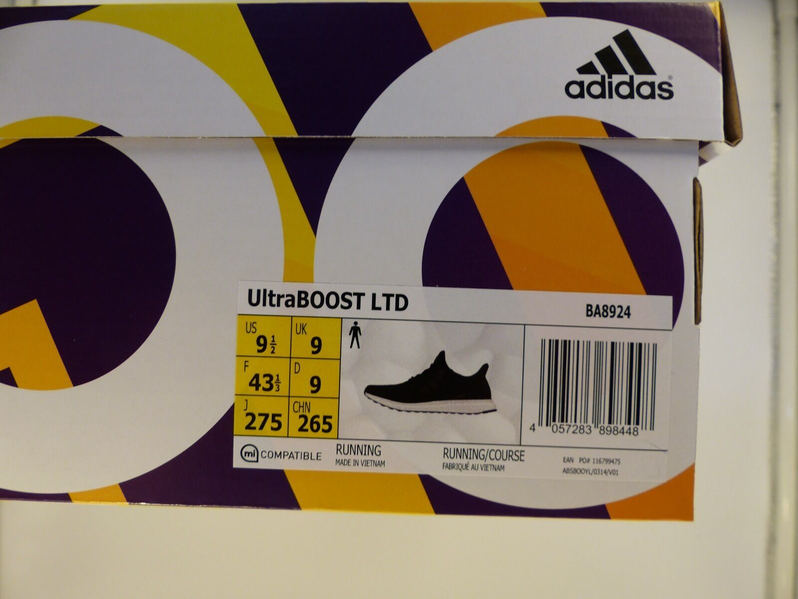 Adidas Ultra Boost LTD 3.0 3.0 3.0 Core Negro Cuero jaula UK9/US9.5/EU43 1/3 DS BA8924 0f2404