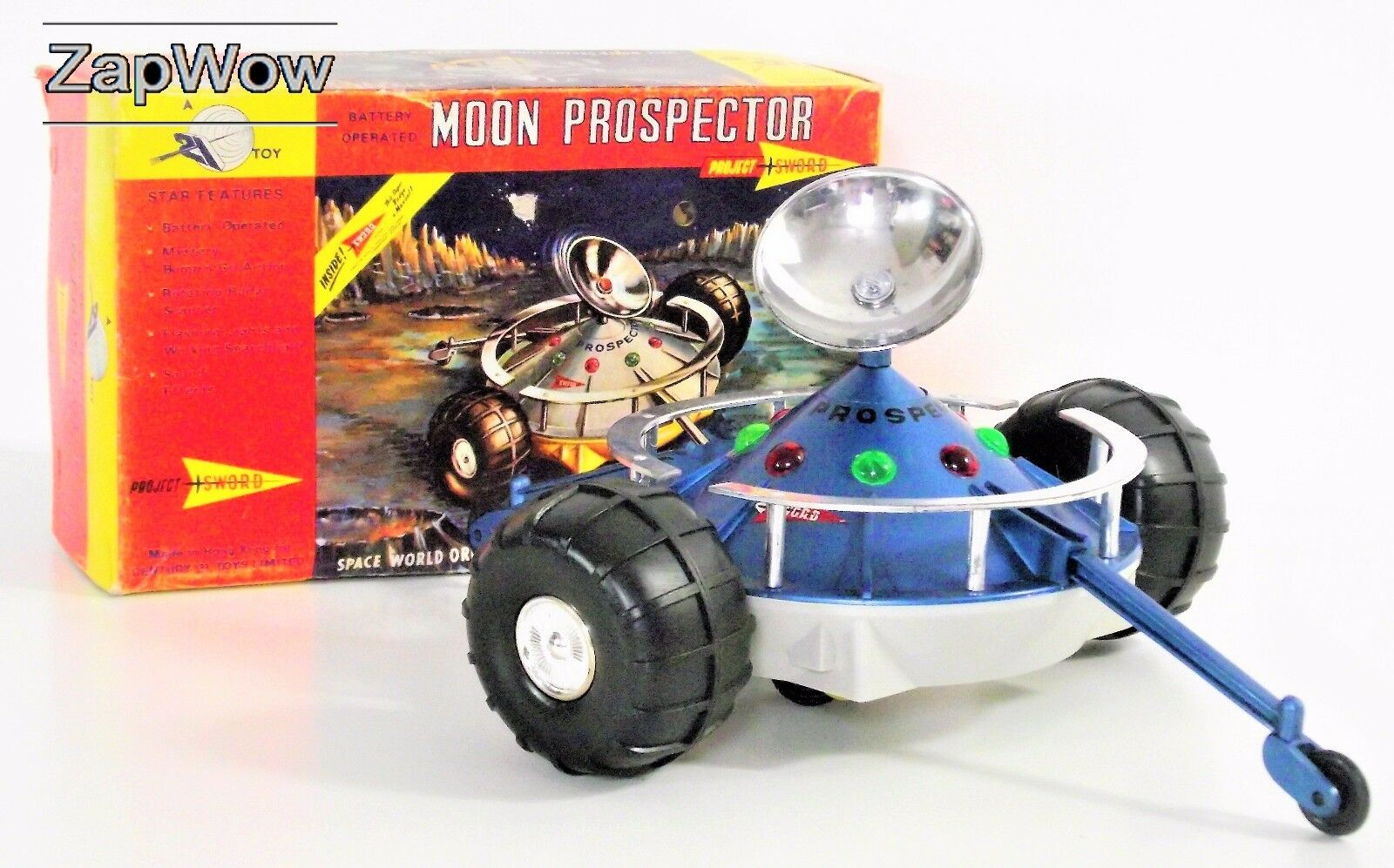PROJECT SWORD MOON PROSPECTOR 1967 Century 21 Anderson Space Toy Boxed 1960s
