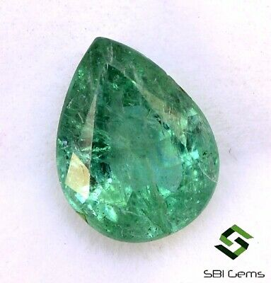 Mix mm Certified Natural Emerald Pear Cut Lot 11 Pcs 7.71 Cts Faceted Green Loose Gemstones