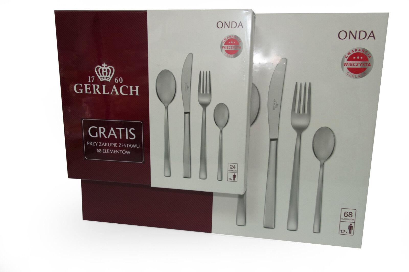 68 pcs Ensemble couverts Gerlach set couverts Couverts haute qualité + 24 pièces gratuit