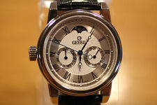 GEVRIL GV2 LEFT-HANDED QUARTZ MOON PHASE LIMITED EDITION 2603 MEN'S WATCH