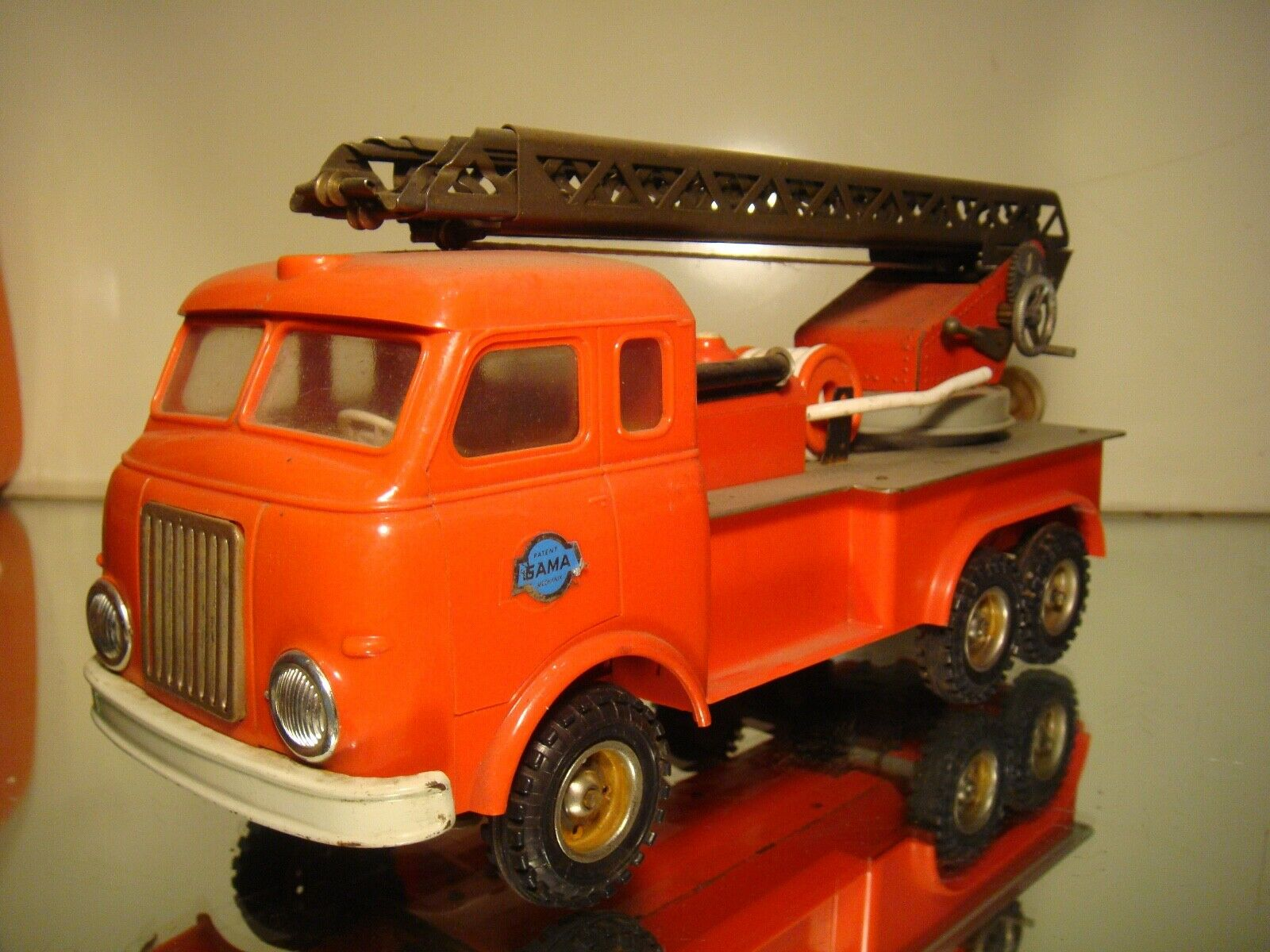 Gama Fire Truck, tin plate and plastic, 12.5 , made Western Germany