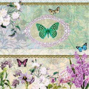20-Ambiente-3-Epaisseur-Papier-Serviette-Papillon-Medaillon-Dejeune-Fete-Vintage