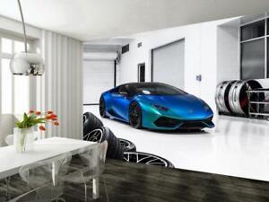 Lamborghini Huracan Race Car Woven Wallpaper Self Adhesive Wall