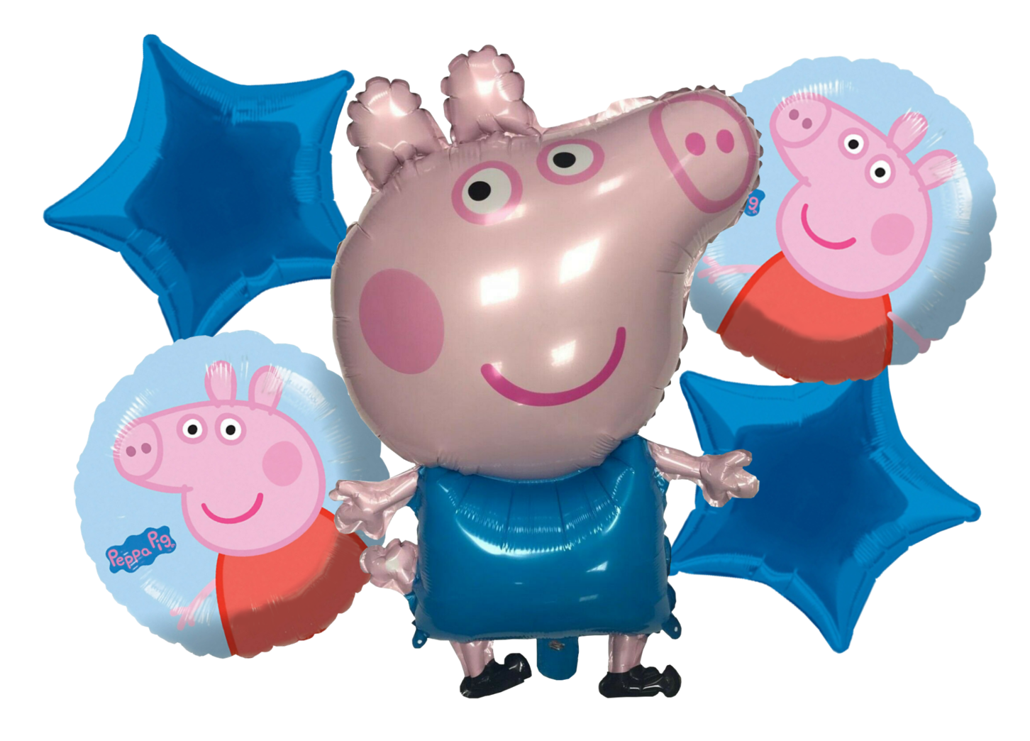 SAME DAY DISPATCH FREE DELIVERY PEPPA PIG FOIL BALLOONS 3 DIFFERENT DESIGNS