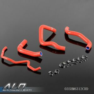 UK-Silicone-Radiator-Coolant-Hose-Clamps-Kit-For-06-08-SUZUKI-GSX-R-600-Red