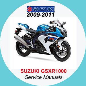 suzuki gsxr1000 2009 2013 service manual k9 k10 k11 a2 ebay rh ebay co uk 2008 Suzuki Gsxr 1000 2012 Suzuki Gsxr 1000