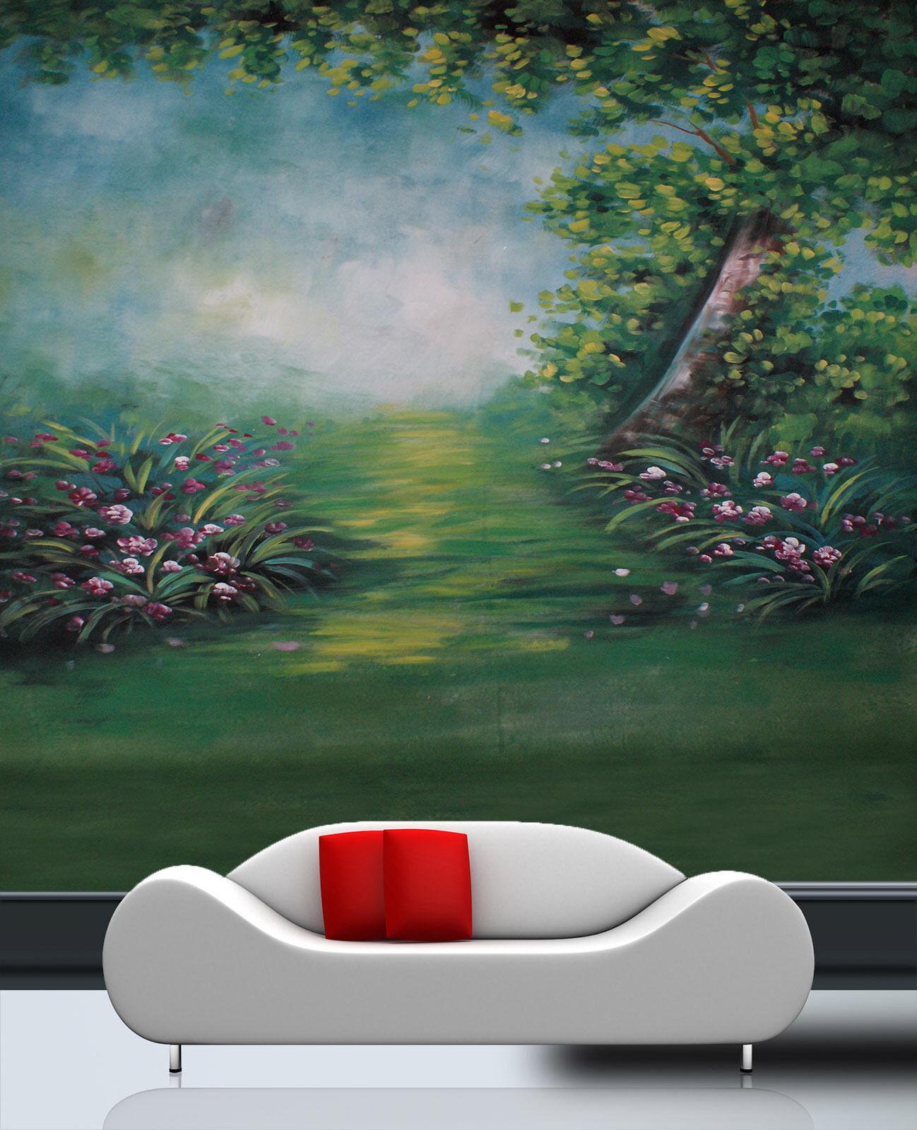 3D Arbre Paysage 21 Photo Papier Peint en Autocollant Murale Plafond Chambre Art